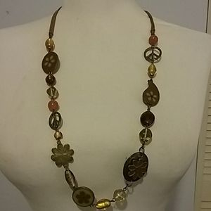 Vintage Boho style necklace by Cookie Lee
